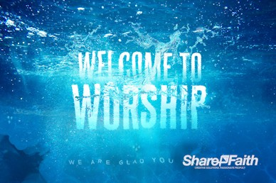 Baptism Sunday Church Welcome Motion Graphic