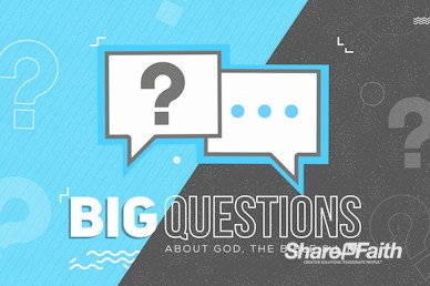 Big Questions Sermon Intro Video Loop