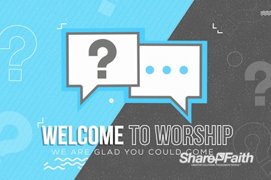 Big Questions Church Welcome Video Loop