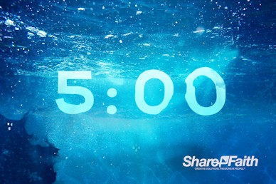 Baptism Sunday Church Countdown Timer