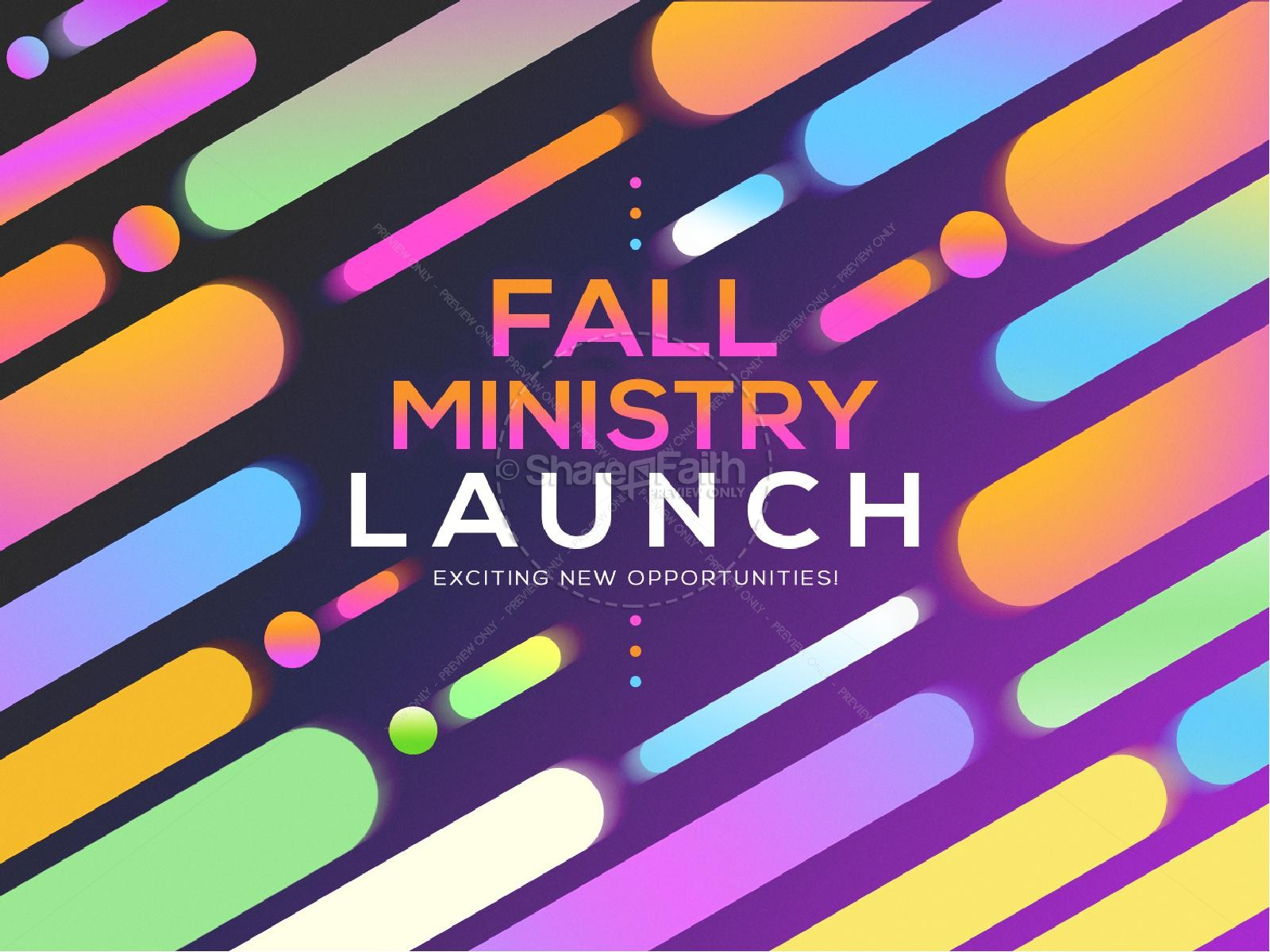 Fall Ministry Launch Church Graphic
