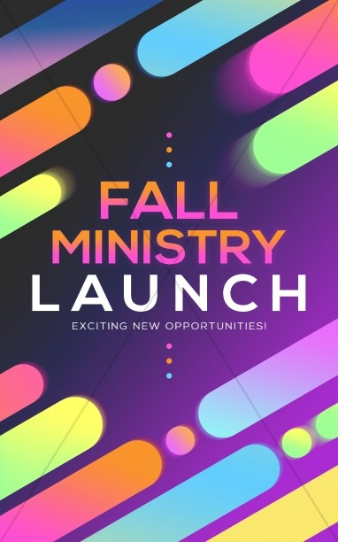 Fall Ministry Launch Church Bulletin