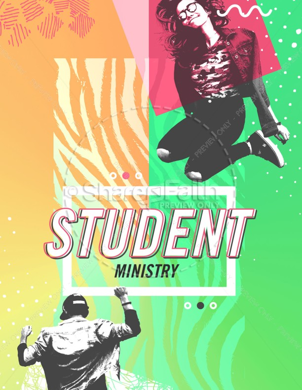 Student Ministry Church Flyer | page 1