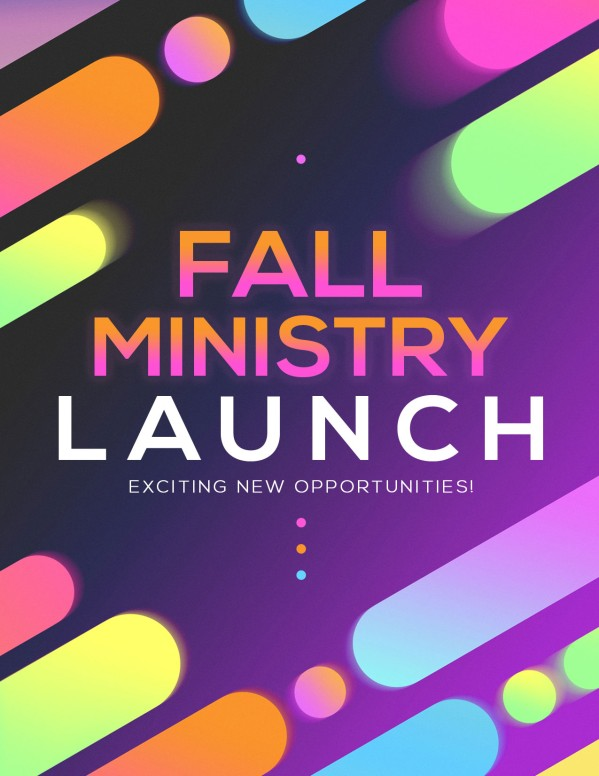 Fall Ministry Launch Church Flyer