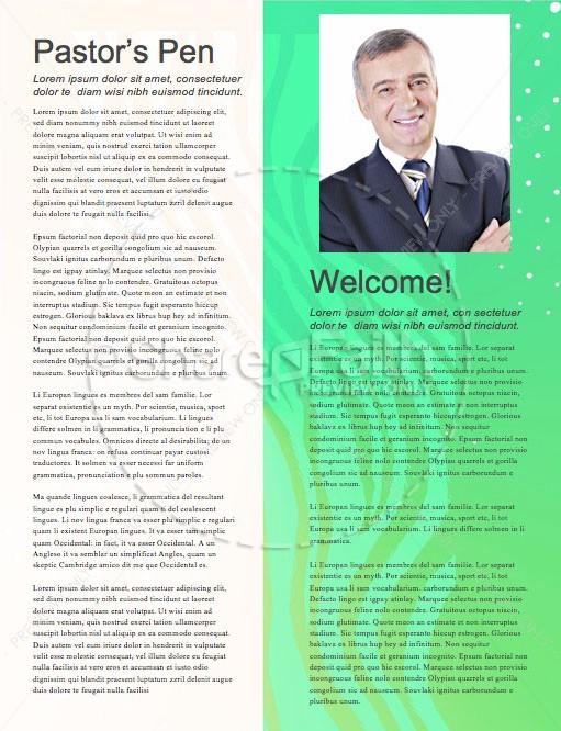 Student Ministry Church Newsletter
