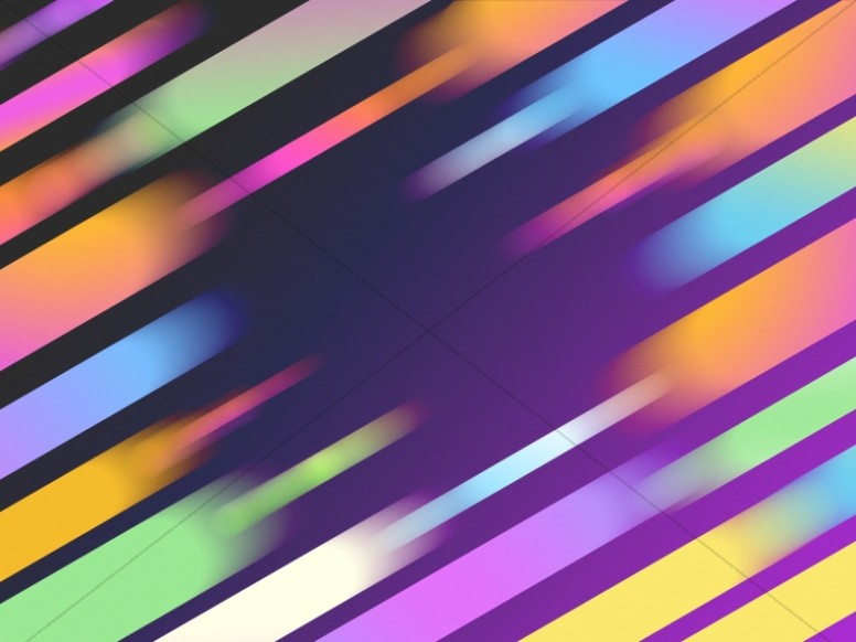 Colorful Beams Worship Background