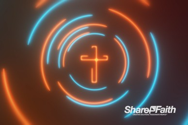 Laser Beam Cross Revolution Motion Background