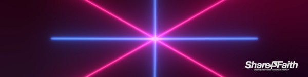 Laser Crossbeam Triple Wide Worship Video
