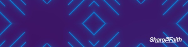 Blue Laser Kaleidoscope Triple Wide Worship Video
