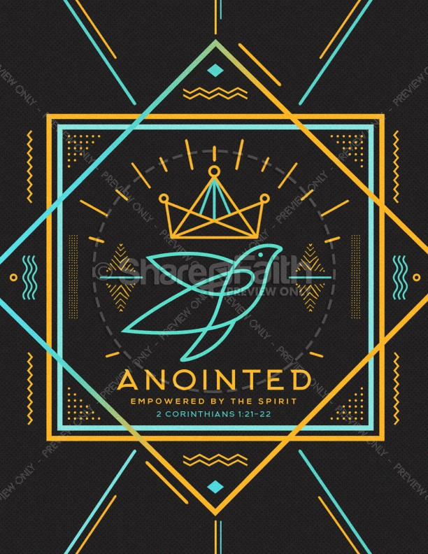Anointed By The Spirit Flyer Template