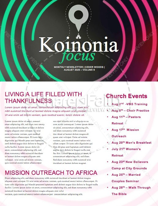 Starting Point Church Newsletter Template