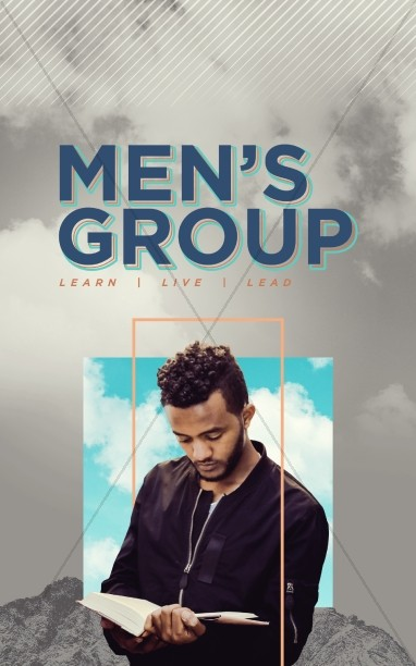 Men's Group Bible Study Bulletin Cover