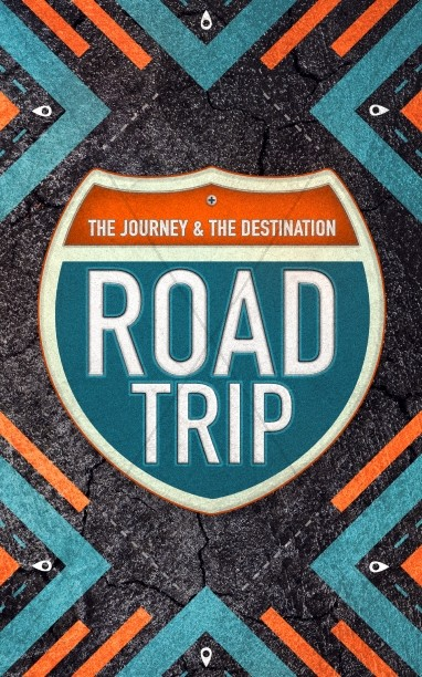 Road Trip Church Retreat Bulletin Cover