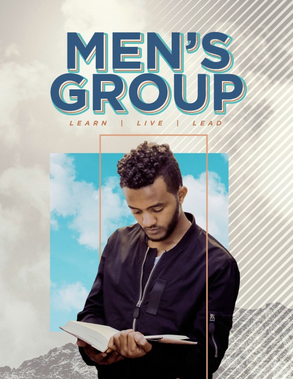 Men's Group Bible Study Flyer Template