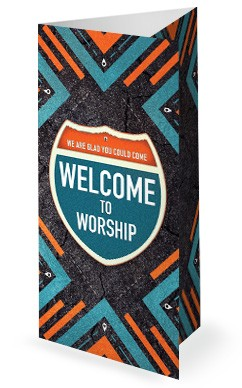 Road Trip Church Retreat Trifold Bulletin Cover