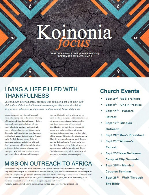 Road Trip Church Retreat Newsletter Template