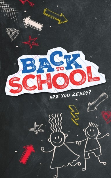 Back To School Chalkboard Art Church Bulletin