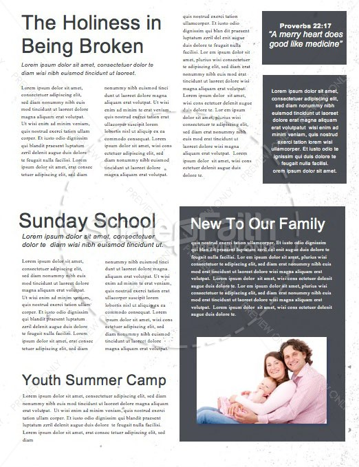 back to school chalkboard art church newsletter template