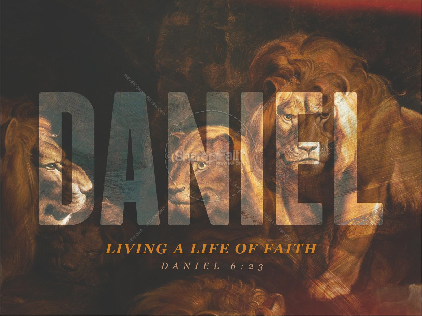 Book Of Daniel Lion's Den Sermon Graphic