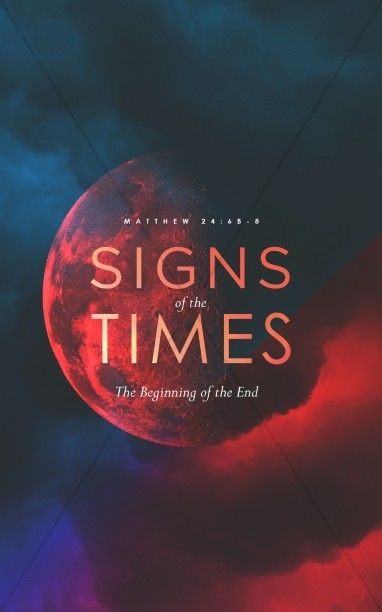 Signs Of The Times Church Bulletin Cover