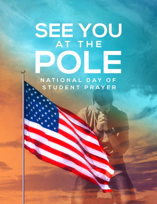 See You At The Pole Day Flyer Template