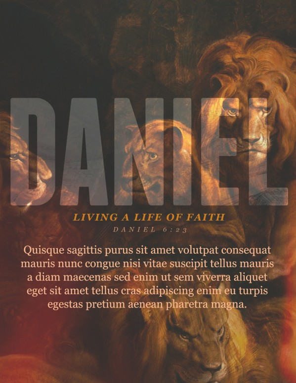 Book Of Daniel Lion's Den Church Flyer