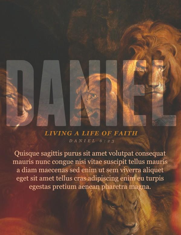 Book Of Daniel Lion's Den Church Flyer