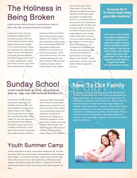 See You At The Pole Day Newsletter Template