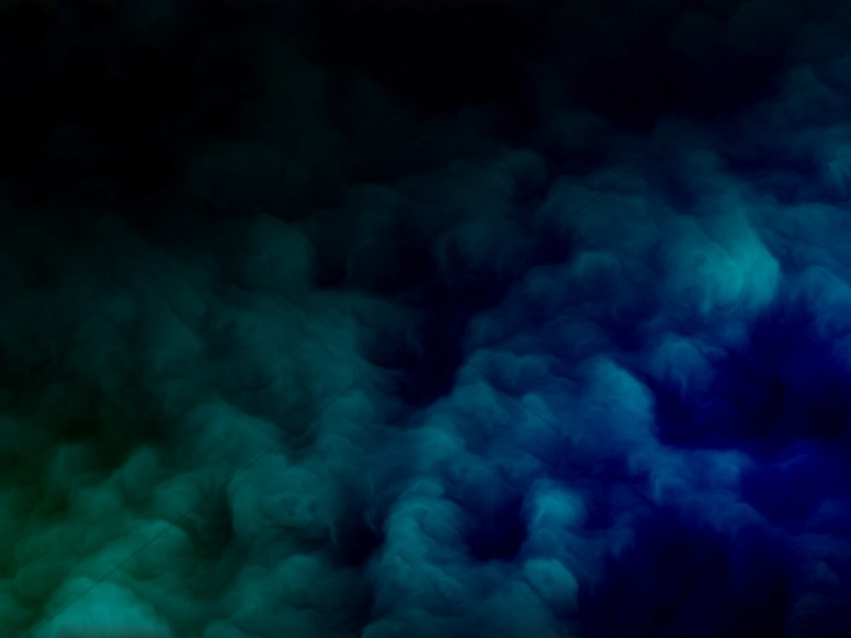Aqua Abstract Clouds Worship Background
