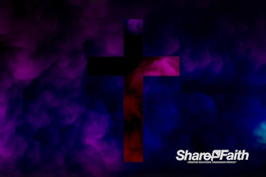 Violet Cross Abstract Clouds Motion Background
