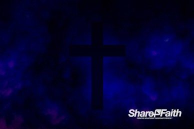 Royal Blue Cross Abstract Clouds Motion Background