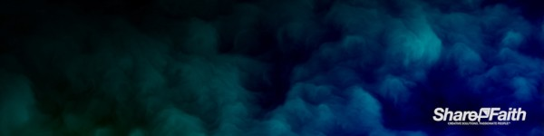 Aqua Abstract Clouds Triple Wide Background