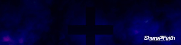 Royal Blue Cross Abstract Clouds Triple Wide Background