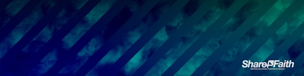 Aqua Stripes Abstract Clouds Triple Wide Background