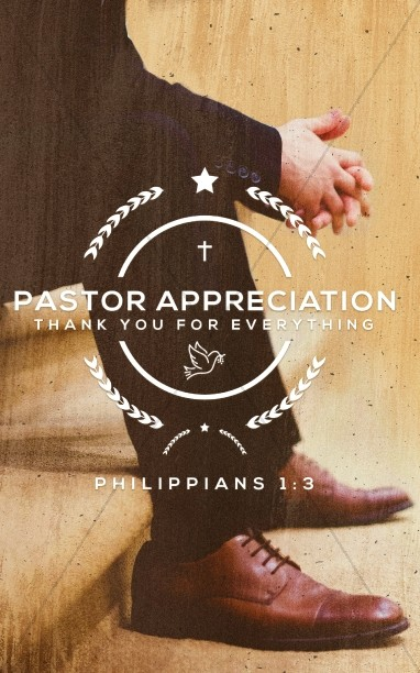 Pastor Appreciation Service Bulletin Cover