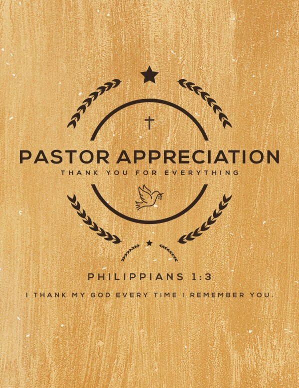 Pastor Appreciation Service Flyer
