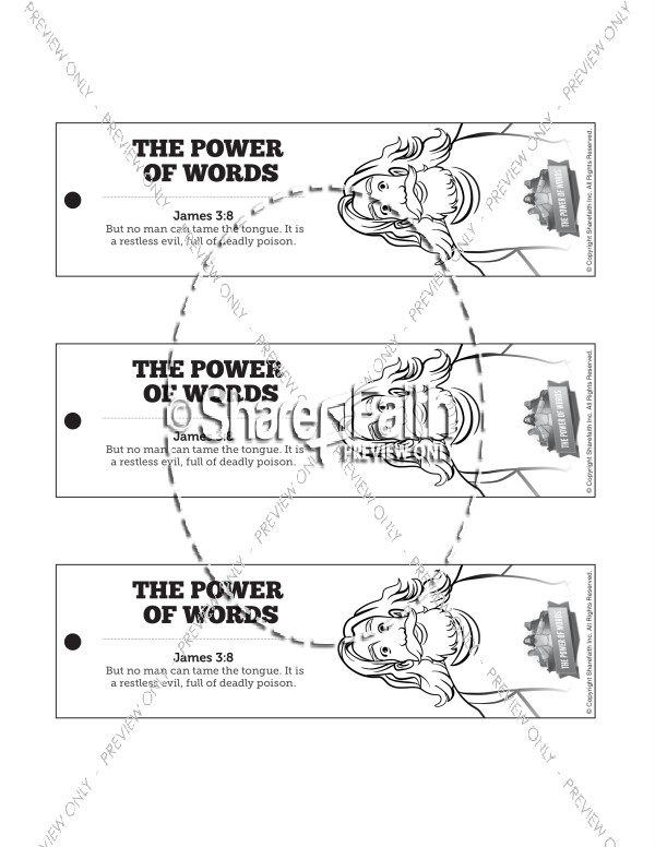James 3 The Power of Words Bible Bookmarks