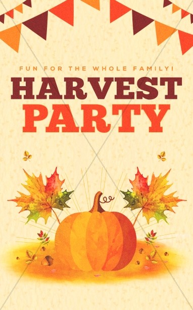 Harvest Party Pumpkin Bulletin Cover