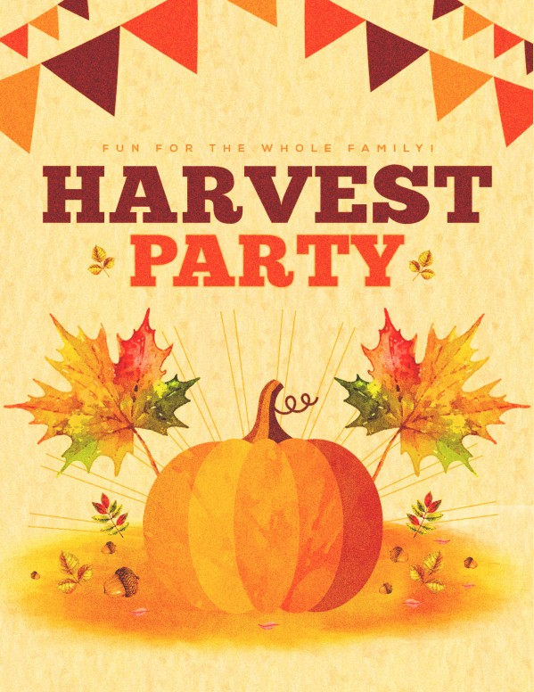Harvest Party Pumpkin Flyer