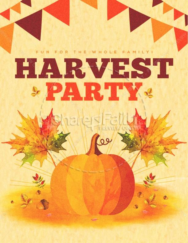 Harvest Party Pumpkin Flyer