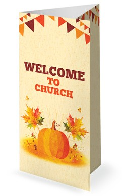 Harvest Party Pumpkin Trifold Bulletin