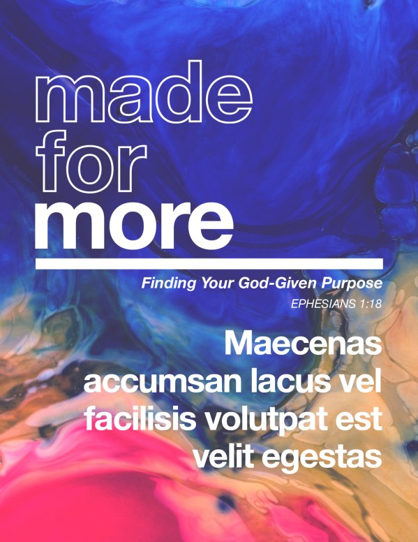 Made For More Sermon Flyer Template