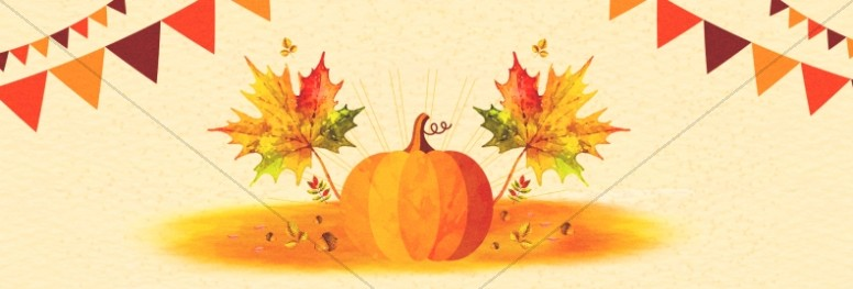 Harvest Party Pumpkin Website Banner