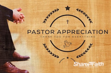 Pastor Appreciation Service Church Graphic