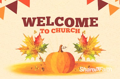 Harvest Party Pumpkin Welcome Bumper Video