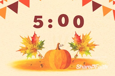 Harvest Party Pumpkin Church Countdown