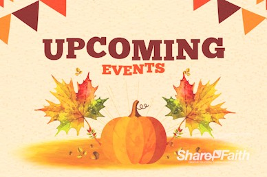 Harvest Party Pumpkin Announcements Bumper Video