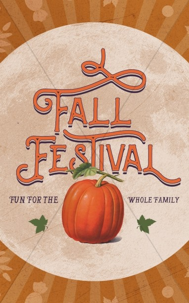 Fall Festival Pumpkin Church Bulletin