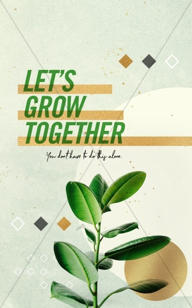Let's Grow Together Church Bulletin Cover
