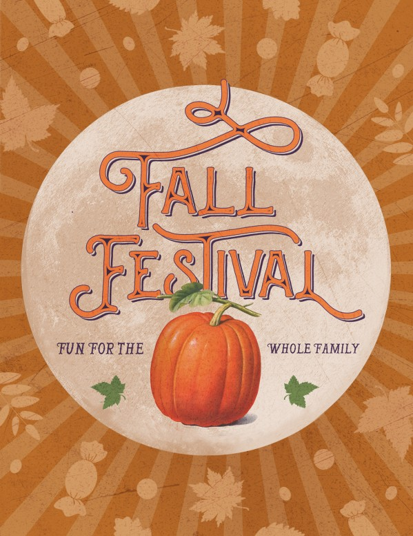 Fall Festival Pumpkin Church Flyer